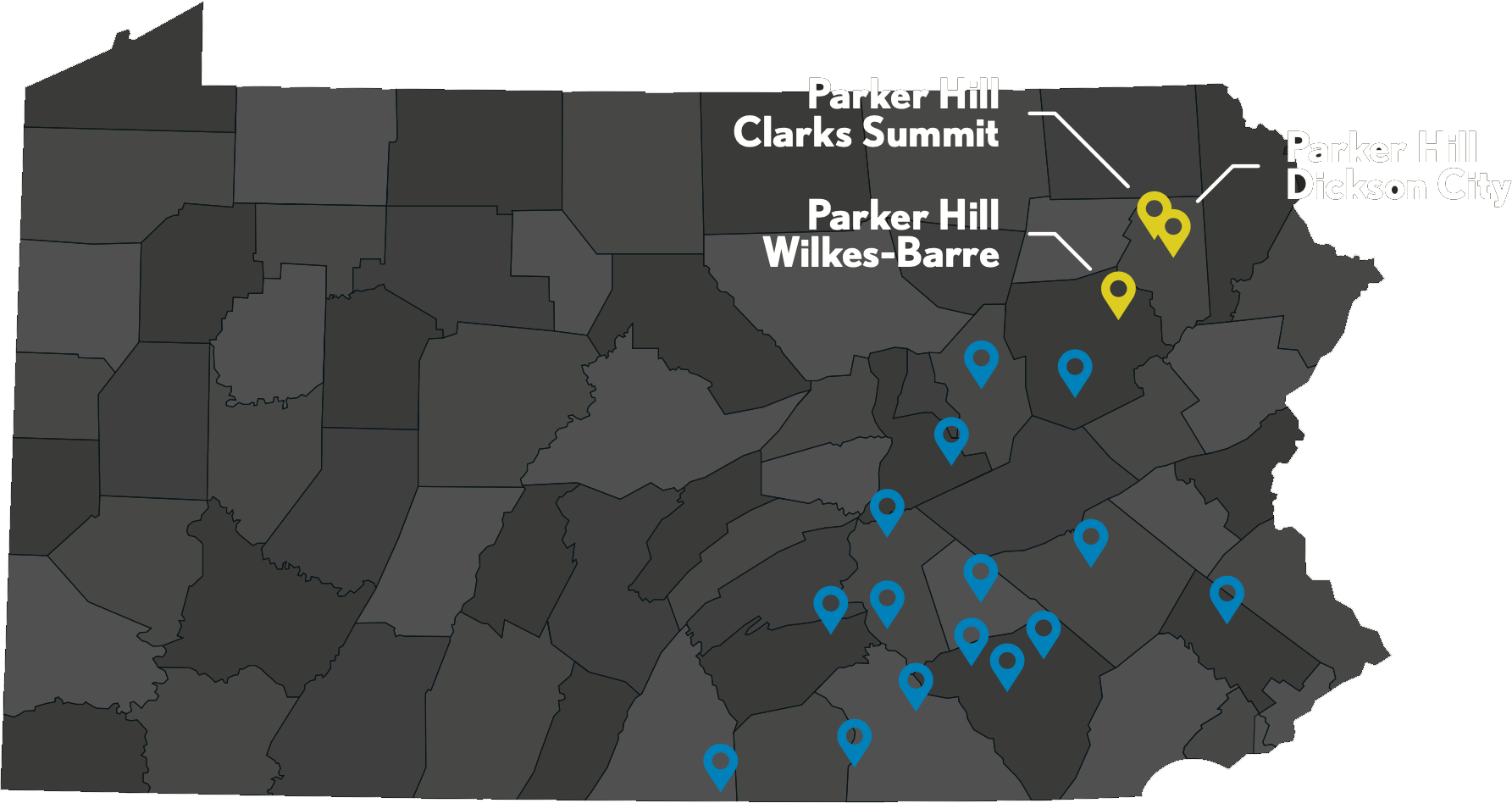 Parker Hill Locations